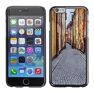 """KOKO CASE / Apple Iphone 6 / edifici strada"""" / Delgado Negro Plástico caso cubierta Shell Armor Funda Case Cover"""
