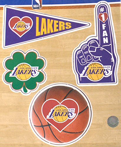 LA Lakers 4 Pack Magnet Set