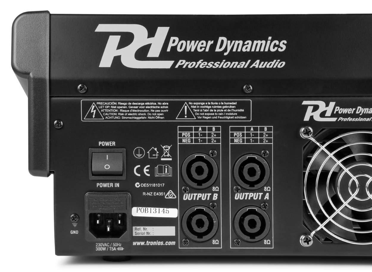 Power Dynamics PDA-S1604A mesa de mezclas de 16 canales con amplificador integrado (2x350 RMS): Amazon.es: Instrumentos musicales