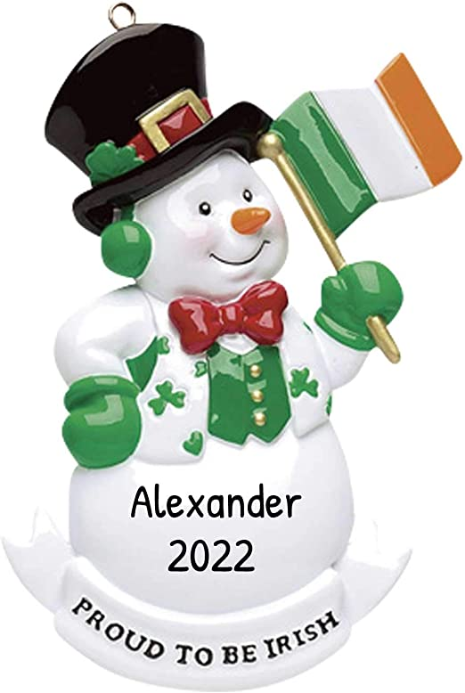 Amazon.com: Personalized Proud to be Irish Christmas Tree Ornament