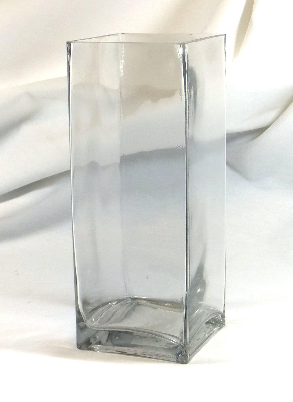 Amazon 10 rectangle glass block vase 10 inch high clear amazon 10 rectangle glass block vase 10 inch high clear square pillar centerpiece 10x4x4 candleholder home kitchen reviewsmspy