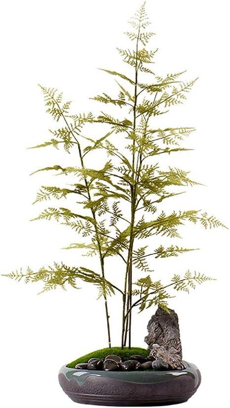 WYZBD Decoración de árbol de bambú Verde de simulación decoración ...