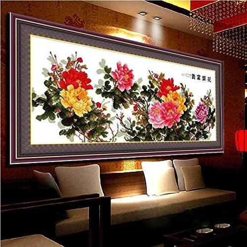 (Cross stitch, flower, Chinese style, P0141)