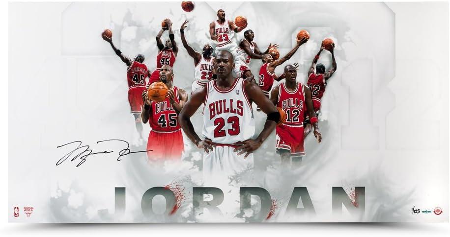 Michael Jordan Autographed #12 #23 #45
