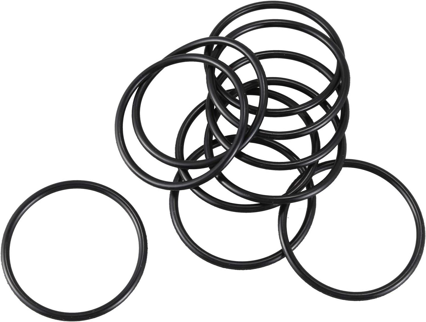 Tmand 10 Stueck Schwarz Gummi Oil Seal O-Ringe Dichtungen Unterlegscheiben 40x35x2.5mm
