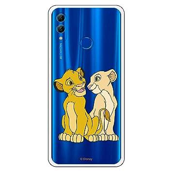 LA CASA DE LAS CARCASAS Funda Oficial Disney Simba y Nala Transparente para Huawei P Smart 2019-Honor 10 Lite - El Rey León