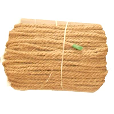 Organic Garden Twine Made of Premium Quality Coconut Fiber (Coir Fiber) Length 150 feet, Thickness is 5mm .This Twine is Perfect for Vine Support Since it has Excellence Water Holding Capacity. : Garden & Outdoor