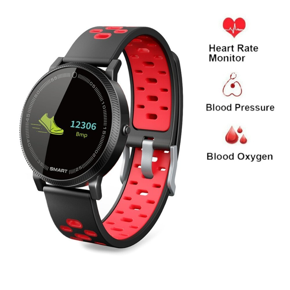 Smart Watch for Android Samsung,Businda Smart Bracelet with Blood Oxygen Pressure Heart Rate Waterproof Activity Tracker for Women Men by Businda