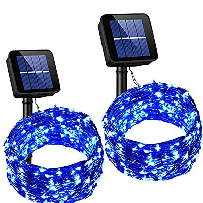 SOLARMKS Solar String Lights,100 LED Outdoor String Lights Copper Wire Lights for Patio,Gate,Yard,Party,Wedding,Christmas,Garden