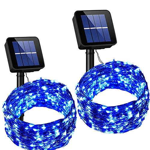 Outdoor Solar String Lights Blue in US - 8