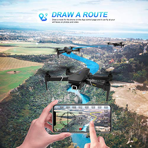 EACHINE E520S GPS Drone with 4K Camera for Adults, 5G WiFi FPV Live Video GPS Return Home 32mins Flight Time Follow Me RC Professional Quadcopter for Adults Carrying Case and Two Batteries