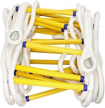 Escape de emergencia Escalera de cuerda de 2 pisos - Llama sólida cuerda de seguridad resistente a