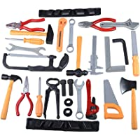 Gresdent Construction Party Supplies 28Pcs Kids Toy Tools Sets Plasic Toys Tool Screwdriver Pliers Pipe Wrench Ax Repair…