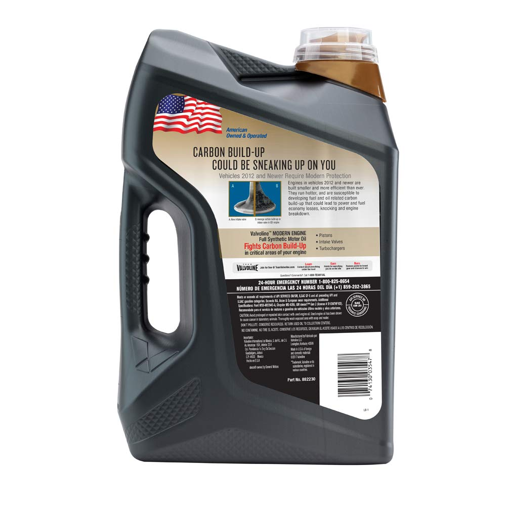 Amazon.com: Valvoline 882230 Modern Engine 5W-20 Premium Synthetic Motor Oil 5QT: Automotive