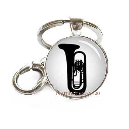 Llavero de cuerno francés, joyería musical, instrumento ...