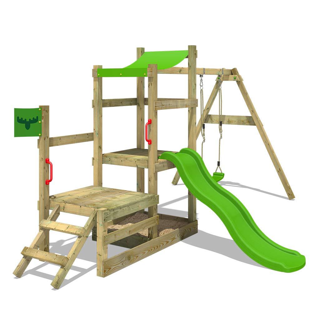 Fatmoose Klettergerüst RabbitRally Racer XXL Spielturm Spielhaus mit ...