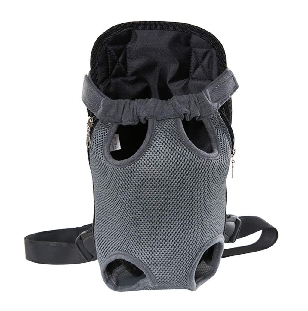 L(45.5KG) Pet Carrier Backpack,Legs Out Front Dog Carrier, Hands-Free Adjustable Pet Backpack Carrier, Wide Straps Shoulder Pads