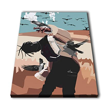 cccebe123a55 Image Unavailable. Image not available for. Color: Susu Art - Travis Scott  Rapper Canvas Abtract Giclee ...