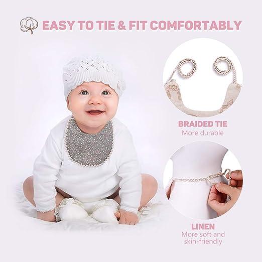 Amazon.com: WIPALO Baberos de algodón absorbente reversible ...