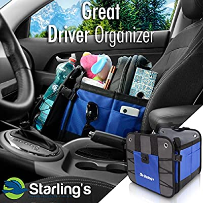 Starling's Car Trunk Organizer - Durable Storage SUV Cargo Organizer Adjustable, Blue: Automotive