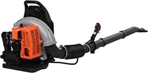 63CC Backpack Gas Powered Leaf Blower(from NJ) - 2-Stroke 3Hp High Performance Gasoline Blower for Lawn Care with Vacuum Capability