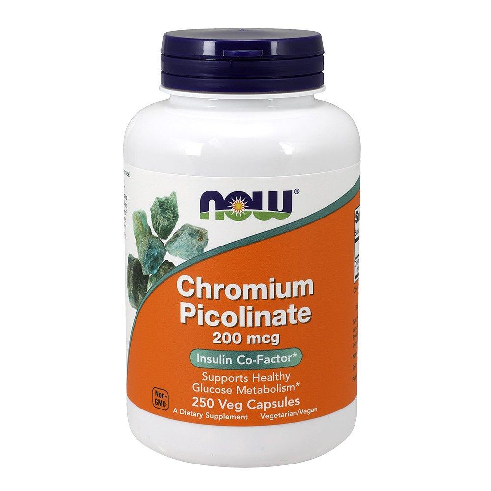 NOW Chromium Picolinate 200 mcg,250 Veg Capsules
