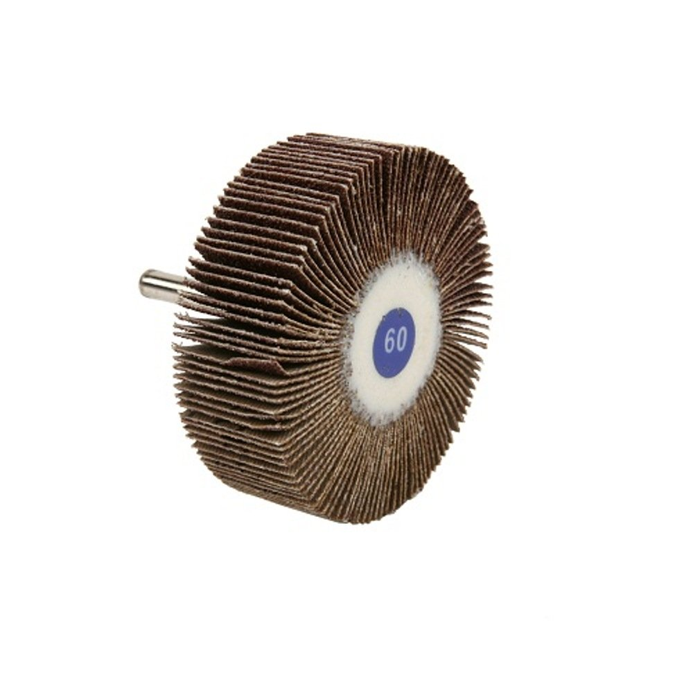 60 Grit 3 Diameter x 1 Width The Lincoln Electric Company Lincoln Electric KH155 Mounted Abrasive Flap Wheel Aluminum Oxide Round Shank Pack of 3 3 Diameter x 1 Width