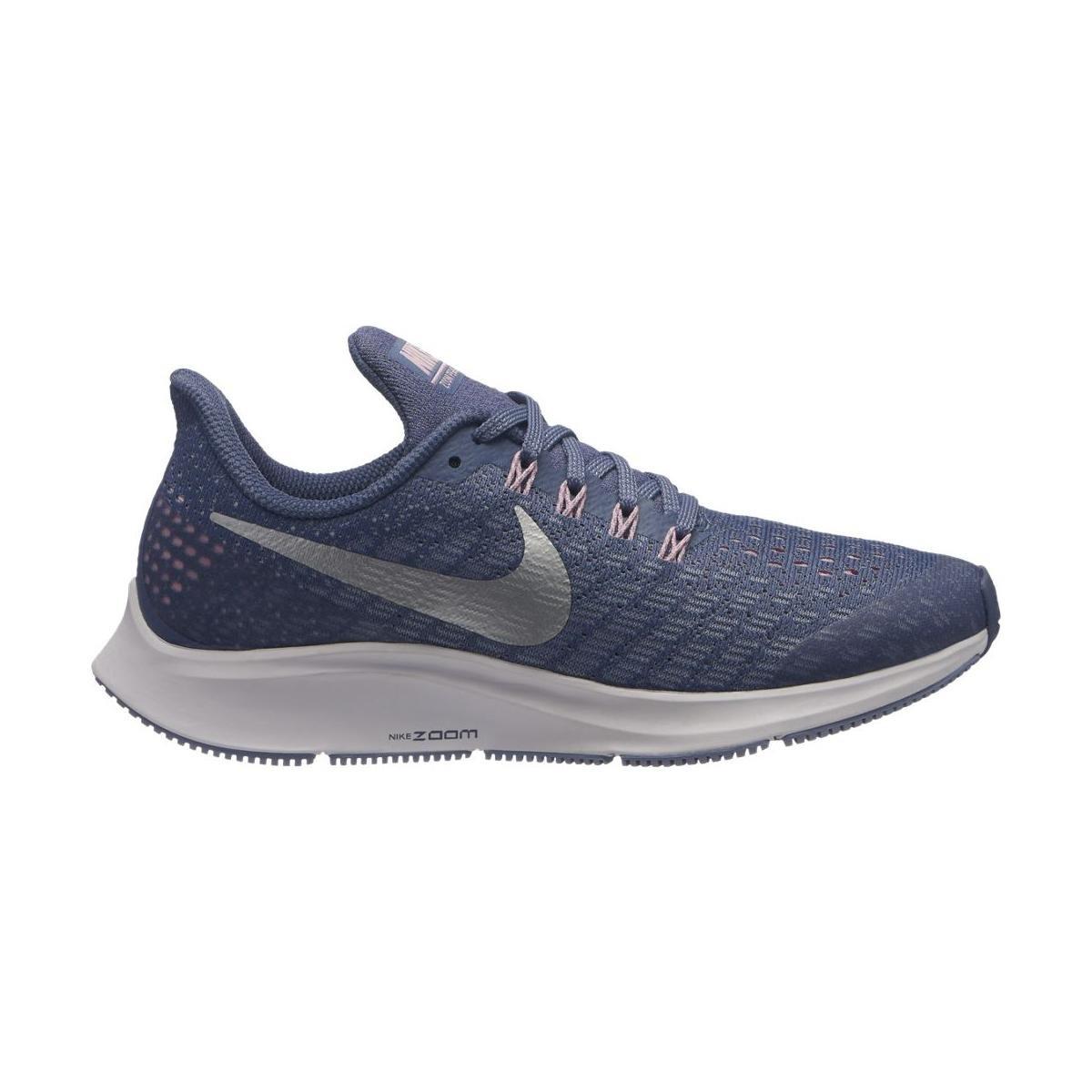 Nike Air Zoom Pegasus 35 (GS), Zapatillas de Running para Mujer 37.5 EU Multicolor (Diffused Blue/Metallic Silver 400)