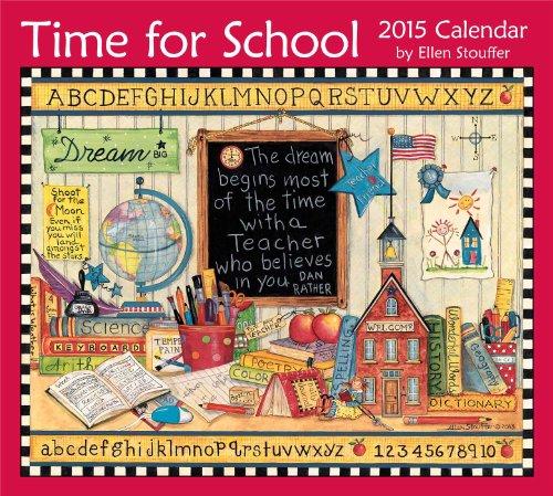 Time for School 2015 Deluxe Wall - 2015 Calendars Folk Wall Art