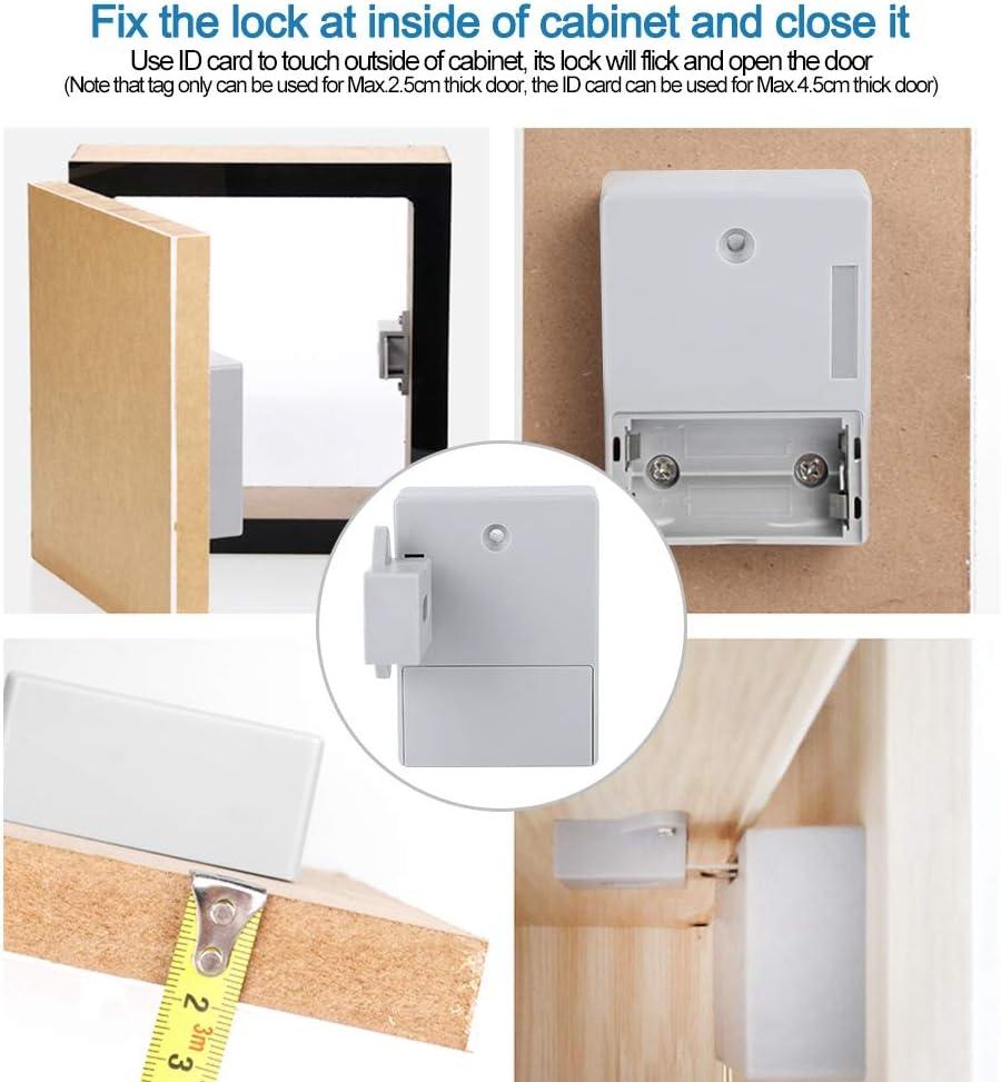 BTIHCEUOT Kabinett Schloss Batterie RFID kabinett schublade DIY digitalschloss ohne Loch Batterie Nicht enthalten