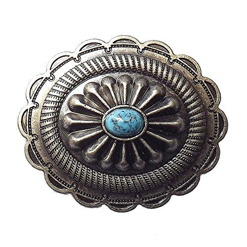 Oval Antique Finish (Oval mini Concho antique silver finish)