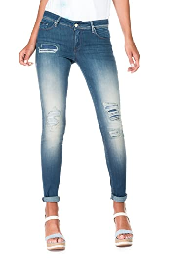 ebddf127df Salsa Skinny Ripped Jeans with Premium wash - Colette Blue: Amazon ...
