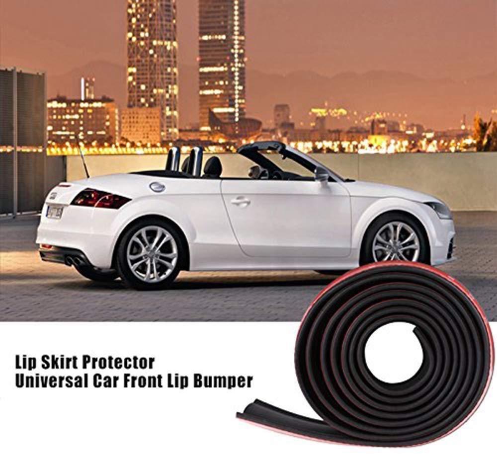 Universal Car Front Rear Bumper Protector Adhesive Rubber Bumper Lip Splitter Body Trim Spoiler 2.5M//8.2ft
