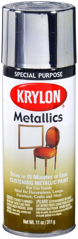 Krylon 1401-6 PK Bright Silver 11 Ounce Aerosol, (Case of 6) Metallic Paint by Krylon
