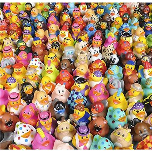 500pc 2'' Rubber Ducky Assortment by Rhode Island Novelty