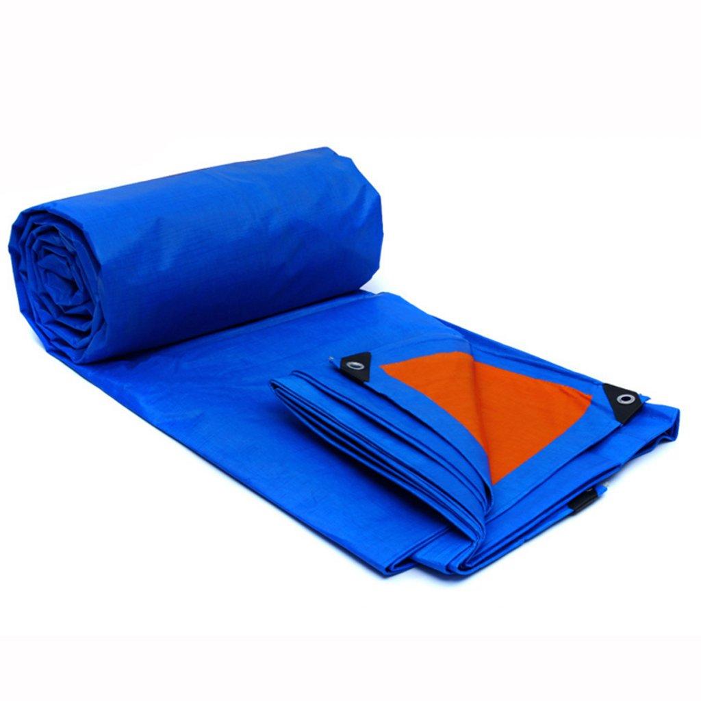 ターポリン防水日焼け止めバイザーの雨布キャノピーリネン車の車の三輪車のターポリンPE (色 : Blue orange, サイズ さいず : 1.5 * 2m) B07FLQRL35 1.5*2m|Blue orange Blue orange 1.5*2m