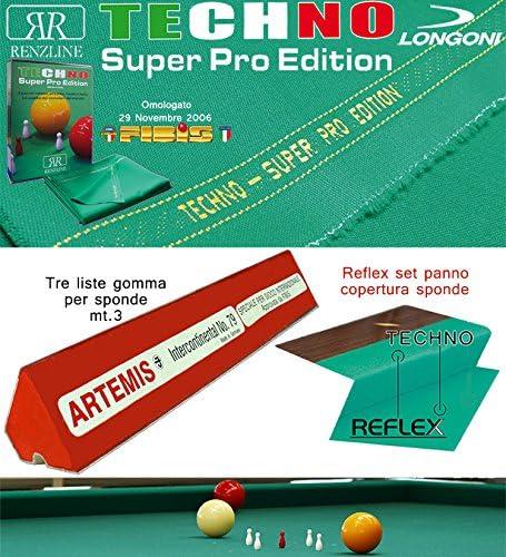 Longoni Techno Super Pro Edition. Kit Paño billar 5 Birilli ...