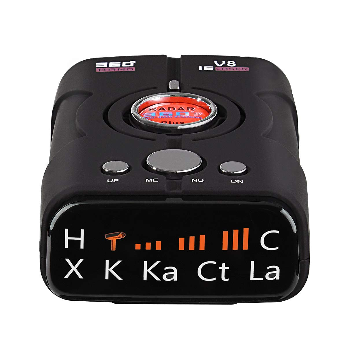 Laser Radar Detector with 360 Degree Detection Voice Alert and Speed Alarm System, City/Highway Mode