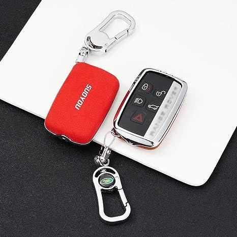 Carbon Fiber Car Key Holder Kyering Protector Accessories For Land Rover Jaguar