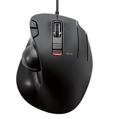 915a475ec95 Amazon.com: ELECOM M-XT3URBK Mouse Wired Trackball Grip 6 Button, Black:  Computers & Accessories