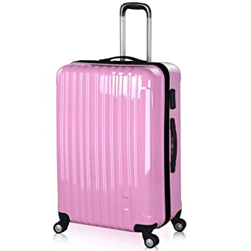 Popamazing Hard Shell PC 4 Wheel Rolling Suitcase Super ...