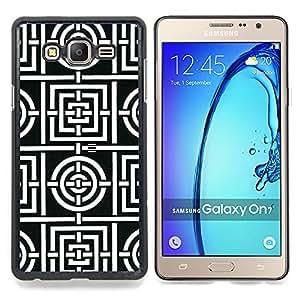 Stuss Case / Funda Carcasa protectora - Motif de lignes blanches Carreaux Forme - Samsung Galaxy On7 O7