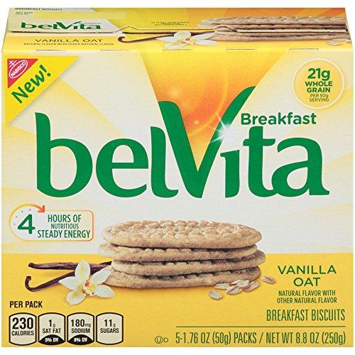 belVita Vanilla Oat Breakfast Biscuits (5 Count Box 1.76 oz) (Pack of 6)