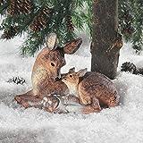 Deer Doe and Fawn Lying Outdoor Garden Statue