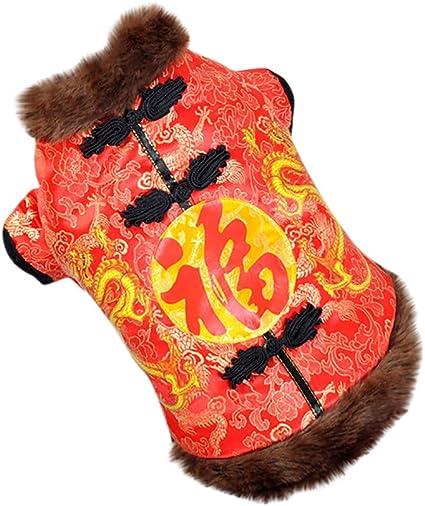 Bravetoshop Sweater for Dogs Fleece Tang Suit Jumpsuit Cat Pet Costumes Winter Warm Clothes