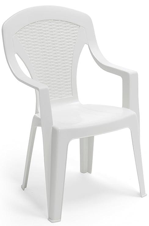 Sedie Di Plastica Bianche.Sf Savino Filippo Poltrona Sedia Arona In Dura Resina Di Plastica
