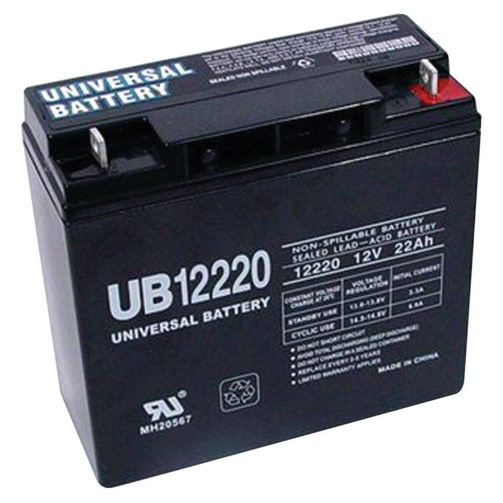 12 Volt 22 Amp Hour UB12220 Sealed Lead Acid Battery Replacement with T4 Terminals by UPG 40696