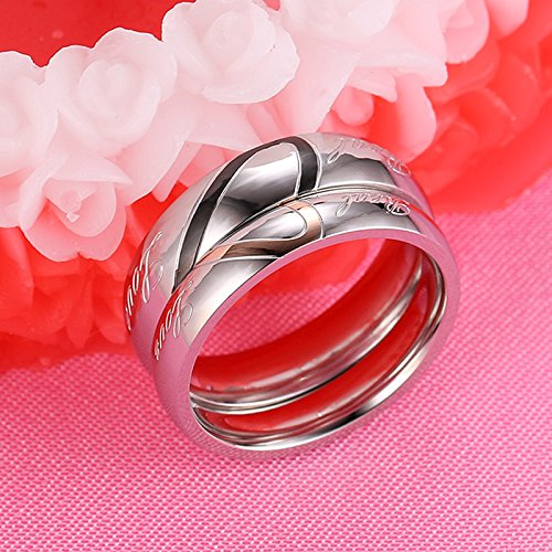 Gemmart Romantic Heart 316L Stainless Steel Lover cz engagement ring womans fashion rings
