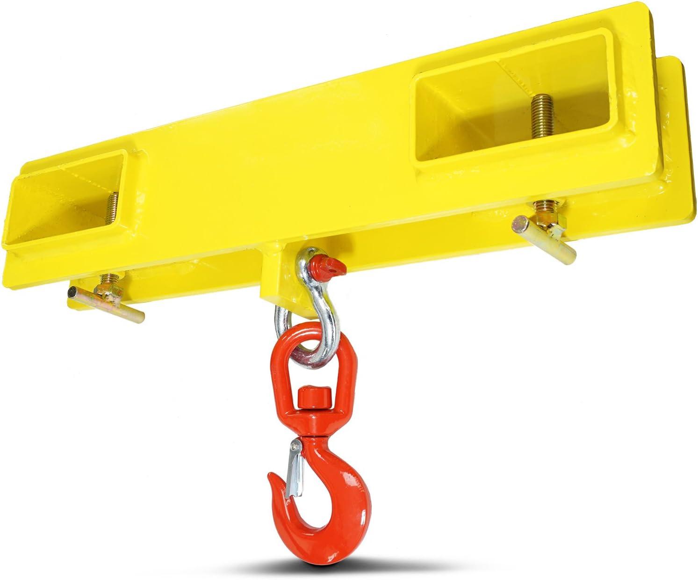 Capacity Lift Titan Forklift Lifting Hoist Swivel Hook Mobile Crane 4000 lb