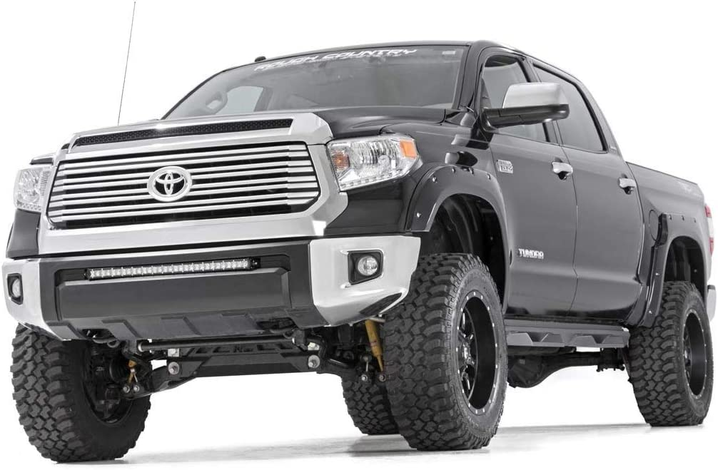 Tundra CrewMax Truck Side Steps SDS071791 Toyota Rough Country DS2 Drop Nerf Steps Fits 2007-2019
